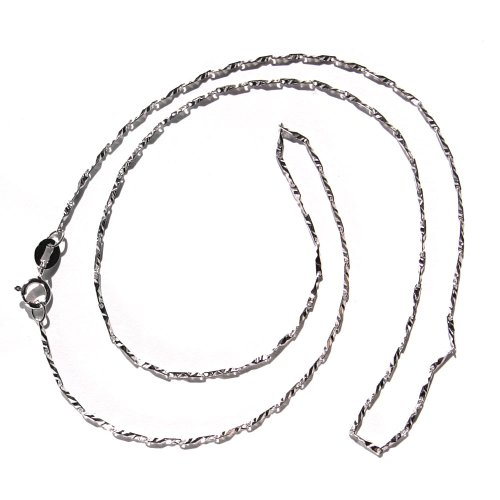 Casted Style Bar Chain Silver Necklace