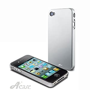 Acase(TM) Superleggera milky way fit case for iPhone 4 with 2 Screen Protector (Silver)