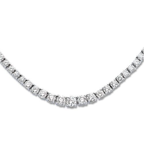14K White Gold 8 ct KLM Diamond Necklace