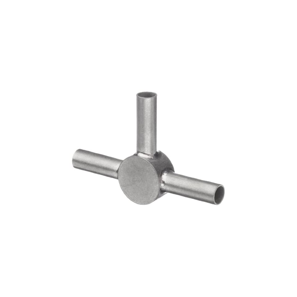 STC 06/3 Stainless Steel Hypodermic Tube Fitting, Tee, 6 Gauge
