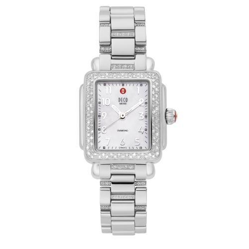 Michele Woman's MWW06D000049 Deco Mini Diamond Stainless Steel Diamond Bracelet Watch