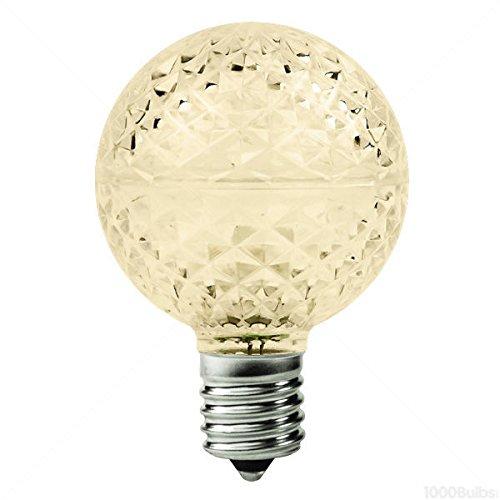25-Pack-096-Watt-LED-G16-Globe-2700K-Warm-White-2-in-Dia-Intermediate-Base-Faceted-Finish-130-Volt