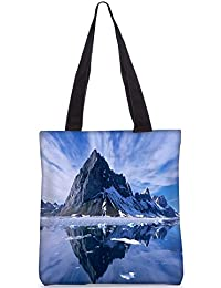 Snoogg Clear Reflection Of The Nature Digitally Printed Utility Tote Bag Handbag Made Of Poly Canvas