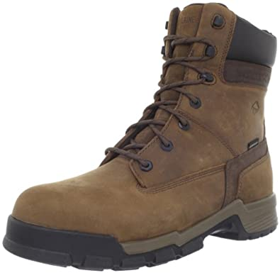 """Wolverine Men's Gear 8"""" Composite Toe Boots,Brown,7 M"""
