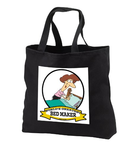 Funny Worlds Greatest Bed Maker Women Cartoon - Black Tote Bag Jumbo 20W X 15H X 5D front-1040826