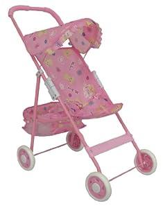 Pink Umbrella Doll Stroller for Baby Dolls