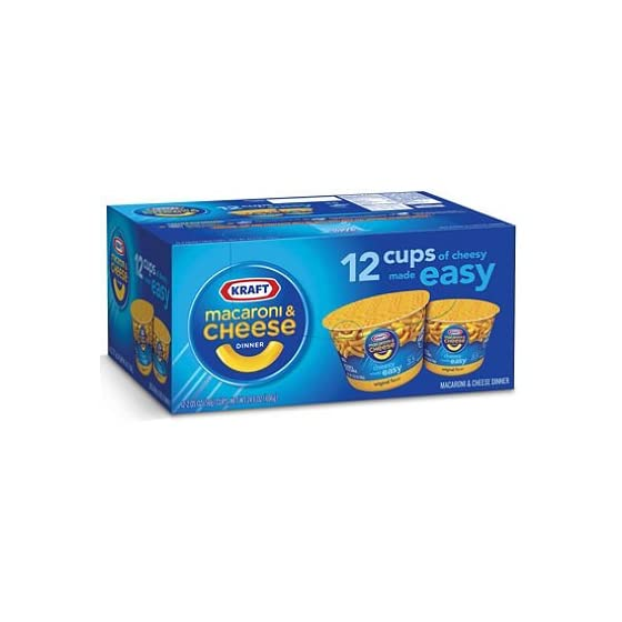 Kraft Easy Mac Original Macaroni and Cheese Individual Heat and Serve Cups