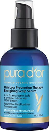 PURA D'OR Hair Loss Prevention Therapy Energizing Scalp Serum, 4 Fluid Ounce (Pur Dor Shampoo compare prices)
