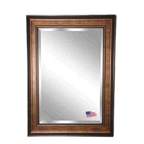 American Made Rayne Wooden Bronze And Black Beveled Wall Mirror, 29.75 X 35.75 front-792292