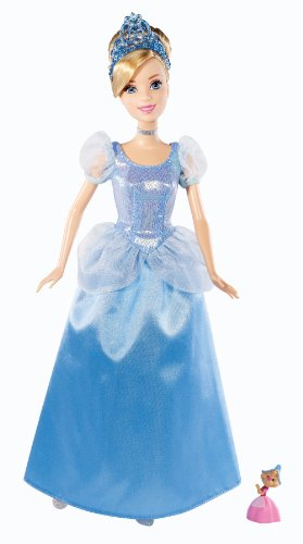 Disney Princess Sparkle Cinderella Doll and Suzy Mouse Giftset - 1