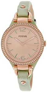 Fossil Women's ES3467 Georgia Analog Display Analog Quartz Green Watch