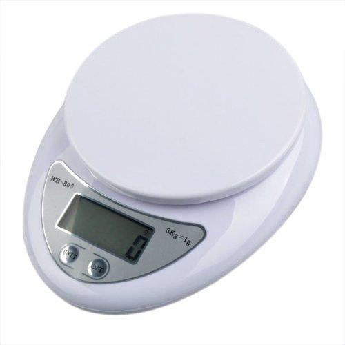 TOOGOO(R) Mini Balance numerique 5 kg Blanc Bon assistant dans la cuisine