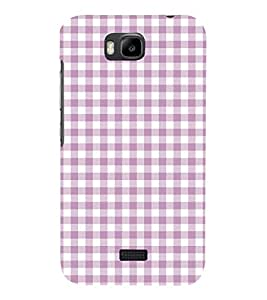 Checks Pattern 3D Hard Polycarbonate Designer Back Case Cover for Huawei Honor Bee :: Huawei Y5C