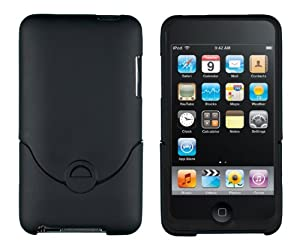 Bastex Black Case for Apple Ipod Touch 2g, 3g (2nd & 3rd Generation) snap on hard cover