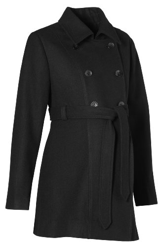 Noppies  Women's 20537 Maternity Jacket/Coat Black (Black 06) 42