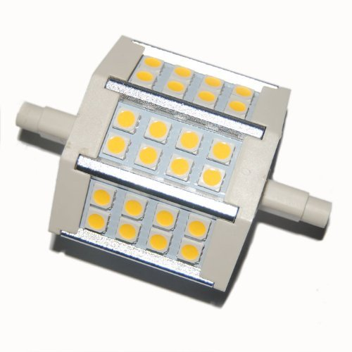Factop Led Bulb Lamp Light R7S 5W 24 5050 Smd 430-440Lm 78Mm 85-265V Ac Replacement For Halogen Flood Lamp Warm Wthie