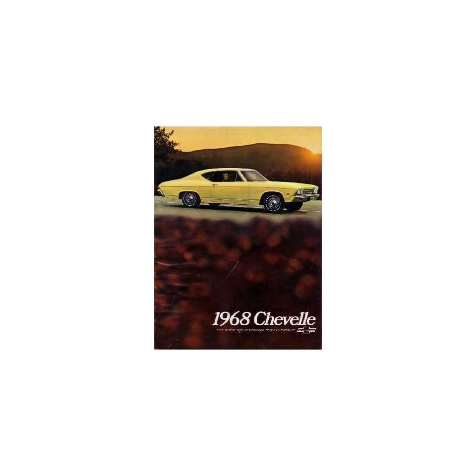 1968 CHEVROLET CHEVELLE Sales Brochure Literature Book
