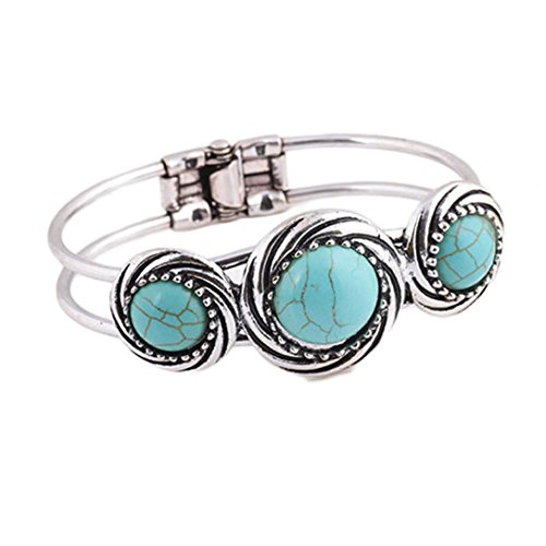 JUNKE Lady Turquoise Bracelet Bohemian Style Retro Cute Plating Circle (B) (Restaurants In Na compare prices)