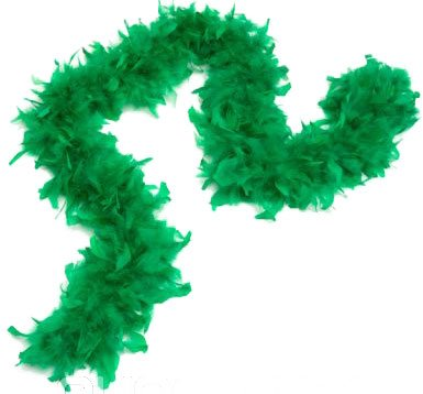 eFuture(TM) Grass Green Deluxe Decorative Costume /Dress Up Feather Boa with Keyring