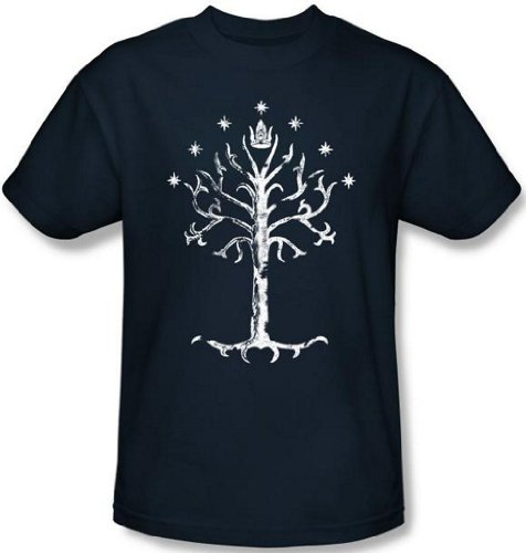 Lord of The Rings Tree Of Gondor T shirt Extra Large Navy