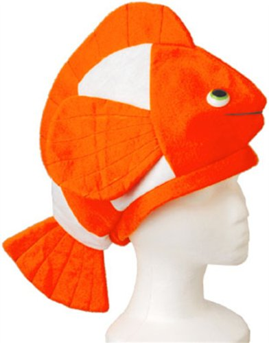 "18"" Stuffed Plush Nemo Clown Fish Hat Costume Party Cap"