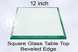 12 inch square glass table top 1 2 inch On 12 inch square table