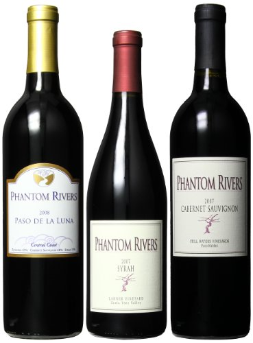 Phantom Rivers Central Coast Red Wines Mixed Pack, 3 X 750 Ml