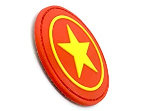 Patch Velcro Airsoft PVC étoile Rouge