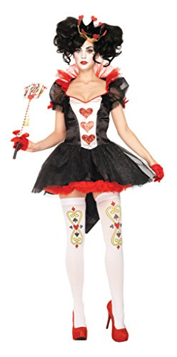 Leg Avenue Womens Renaissance Royal Queen Red Of Hearts Theme Party Costume