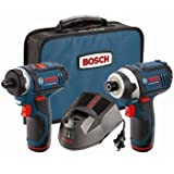 Bosch CLPK27-120 12-Volt Max Lithium-Ion 2-Tool Combo Kit (Drill/Driver and Impact Driver) with 2 Batteries, Charger and Case