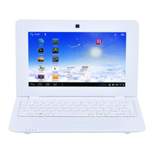 """Moonar ® Netbook Ecran 10"""" pouces TFT Numérique HDMI Android 4.2 VIA8880 Dual-Core ARM 1.5GHZ RAM 1 Go ROM 8 Go (Blanc)"""