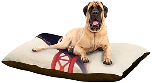 "Kess Inhouse Bree Madden ""Golden Gate"" Dog Bed, 50 By 60-Inch front-1005630"
