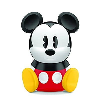 Philips Disney Sleep Time Mickey Children's Night Light and Wake up Light with Integrated LED (1 x 2 W) - Black/Red