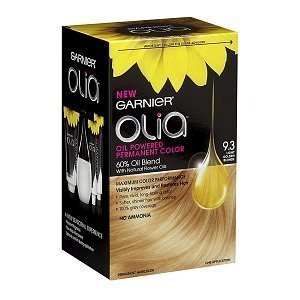 Garnier Olia Oil Powered Permanent Haircolor Light Golden Blonde 9.3 (Pack of 3) (Hair Color Olia compare prices)