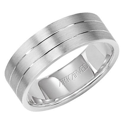 "11-Wv7357P ""Love Light "" Platinum Wedding Ring For Women From Artcarved"
