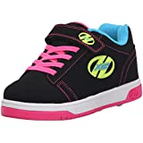 Heelys Dual Up X2 PU Sneaker (Little Kid/Big Kid), Black/Neon Multi, 12 M US Little Kid