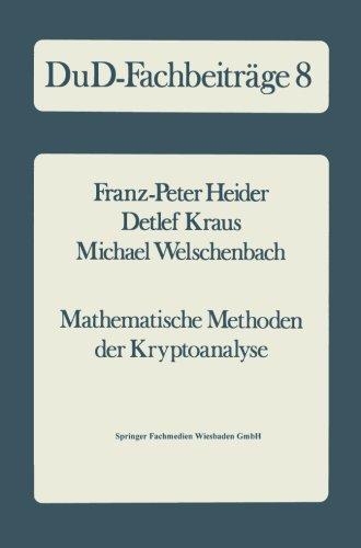 Mathematische Methoden der Kryptoanalyse (DuD-Fachbeitr PDF