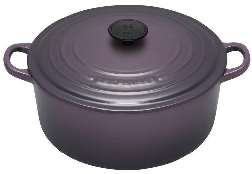 Le Creuset Cast Iron Round Casserole, Cassis, 20 cm