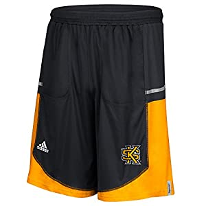 NCAA Kennesaw State Owls Men's Sideline Player Shorts with Pockets, X-Large, Black