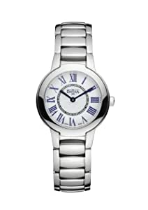 Davosa Ladies Enigma Analogue Watch 16854522 with White Dial and  30 mm Stainless Steel Case