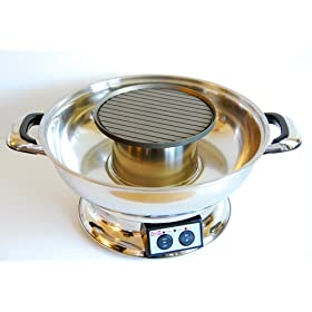 IKEDA Electric Steamboat w/ BBQ Grill