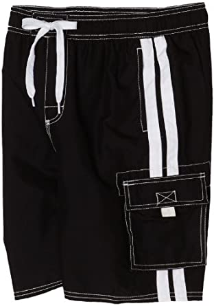 Kanu Surf Boys 8-20 Barracuda Swim Trunk, Black, X-Large (18/20)