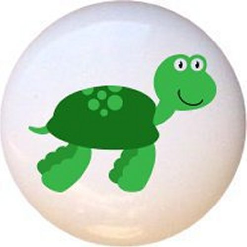 Sea Turtle Sea Creatures by PP Decorative Glossy Ceramic Drawer Pull Dresser Knob