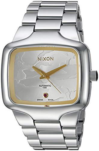 Nixon-Mens-Player-Swiss-Quartz-Metal-and-Stainless-Steel-Automatic-Watch-ColorSilver-Toned-Model-A3522256-00