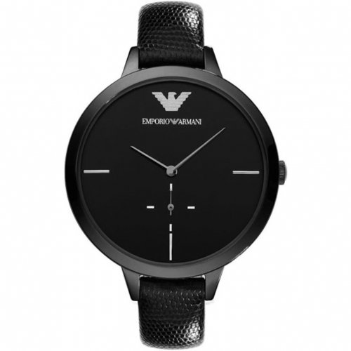 Emporio Armani Oversized Leather Ladies Watch Ar7305