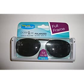 Solar Shield 54R8 Full Frame Polarized Gray Lens Clip on Sunglasses