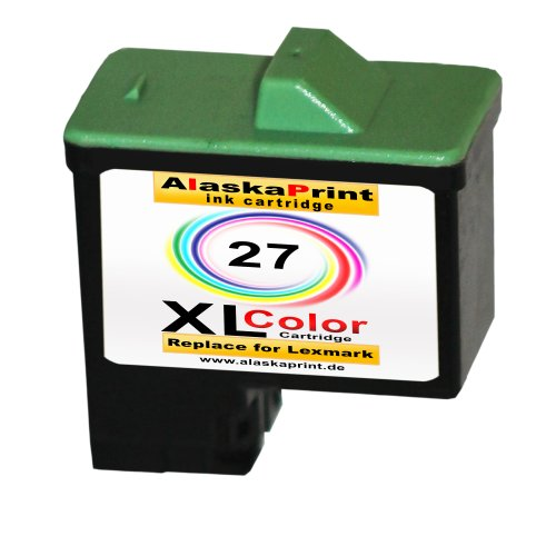 Sparangebot 1x Druckerpatrone Tintenpatrone Ersatz für Lexmark 27 XL ( 1x Color ) Ink Cartridge Original Vanaserie