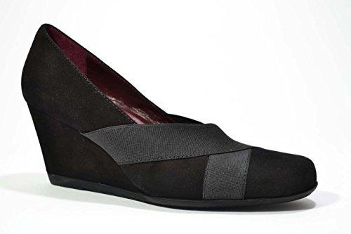 Melluso Decolte' zeppa nero scarpe donna Y5042 36œ