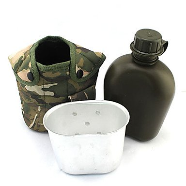 Zcl 1L Military Water Bottle W/ Canteen & Pouch? Hui-36107