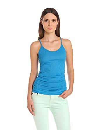 Michael Stars Women's 4X1 Supima Modal Scoop Neck Cami Tank Top, Hurricane, One Size
